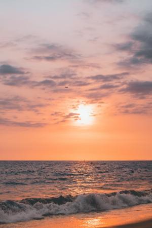 海上日落微信背景