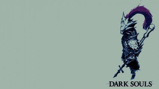 黑暗的灵魂游戏蓝色背景