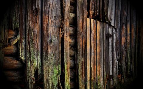 老木板房子的木板