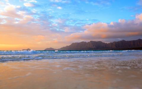 大海和美好的黎明