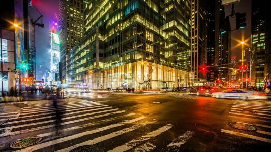 十字路口在纽约