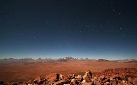 星星和山脉