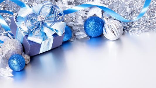 有礼物的圣诞节玩具,模板贺卡