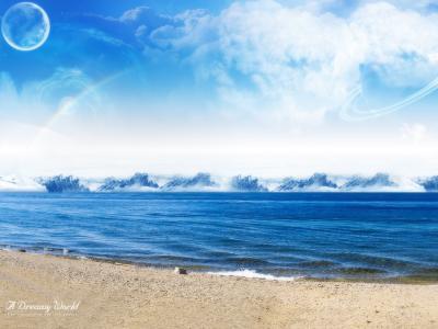 梦幻世界在海边