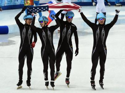 约旦·马龙是美国银牌的短道速滑运动员