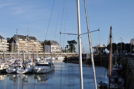 法国拉波勒度假村的港口