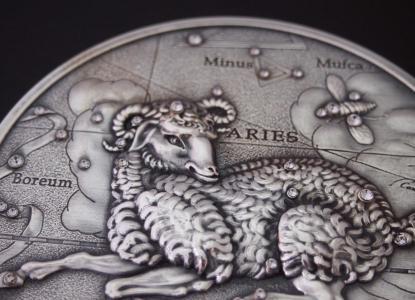 白羊座在硬币上