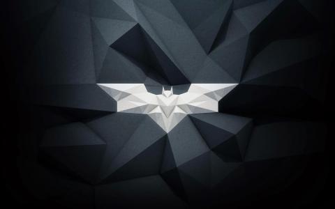 白色的蝙蝠,3D图形