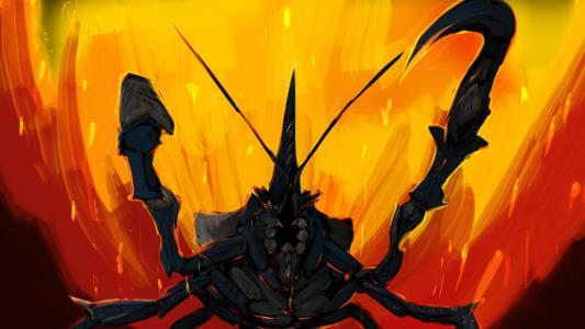 黑蝎子在游戏怪物猎人
