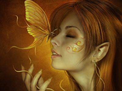 鼻子上的蝴蝶