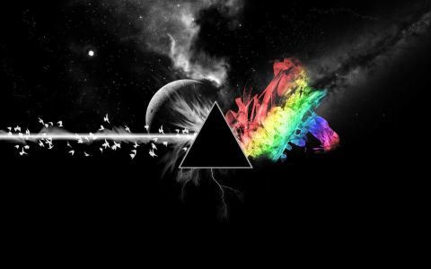 明星,五颜六色,平克·弗洛伊德,月亮的黑暗面