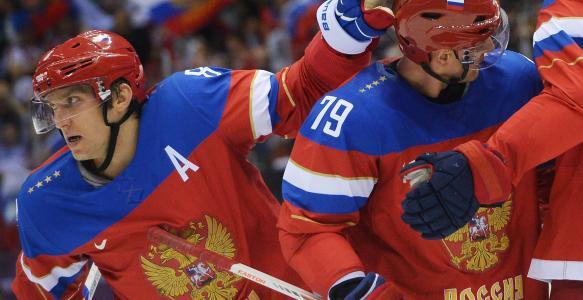 俄罗斯国家曲棍球队在索契奥运会上