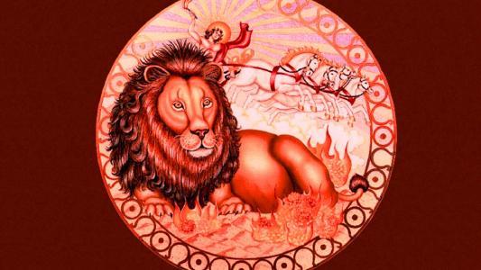 黄道带狮子图画的标志