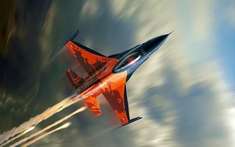 飞机战斗机F-16