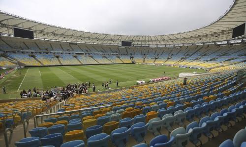 在2014年巴西世界杯赛场的领奖台上