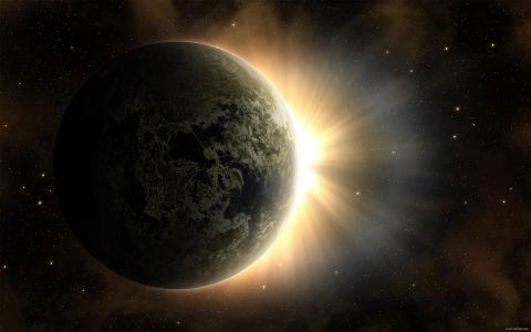 地球背后的光辉