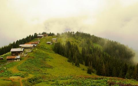 在土耳其的山村