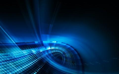 3d蓝色系艺术设计视觉效果图