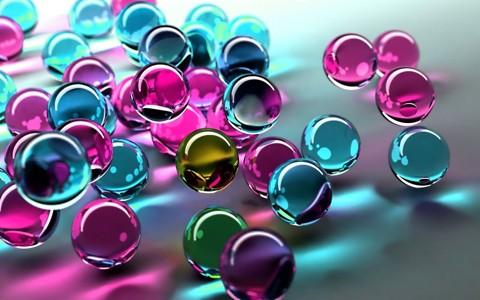 3d漂亮的彩色球体
