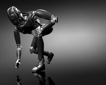 3d酷酷的人工智能机器人