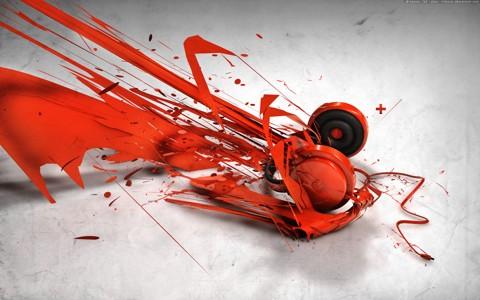 3d耳机艺术创意