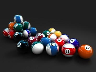3d桌球的圆球
