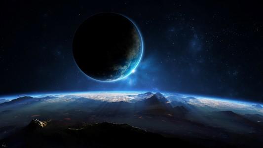 3d唯美的蓝色星球