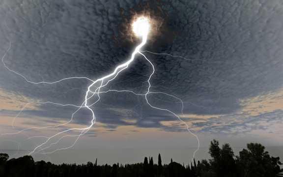 天空的闪电
