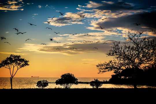 地中海的斜阳景观