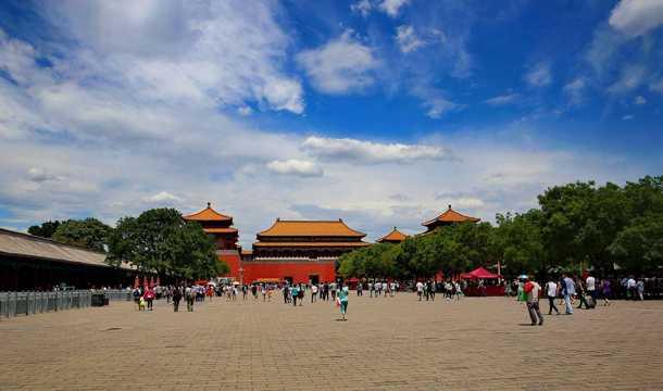 北京角楼光景图片