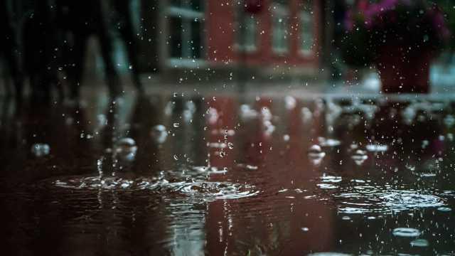 下雨天的雨滴