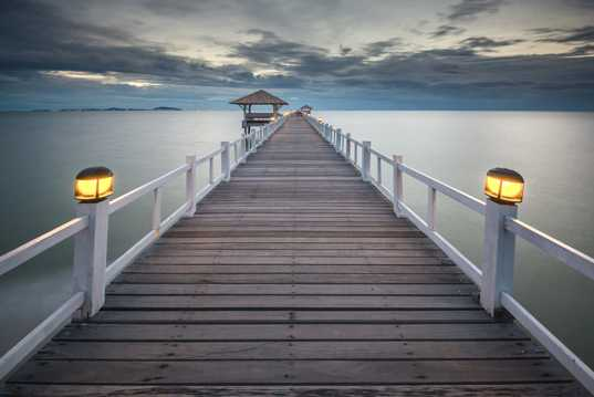海上木桥风景