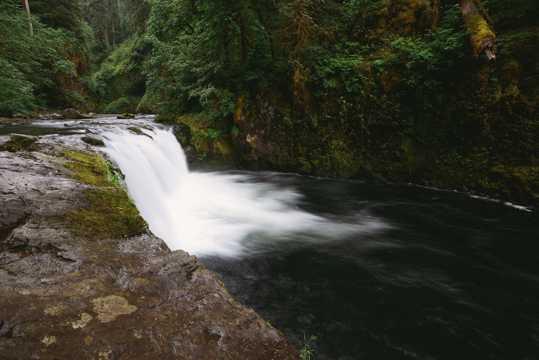 树林小溪山间流水