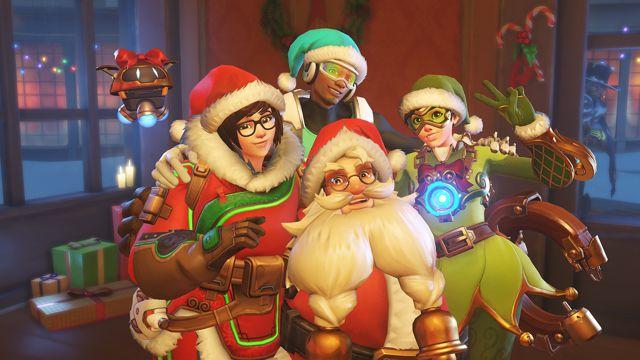 守望先锋圣诞季主题背景图