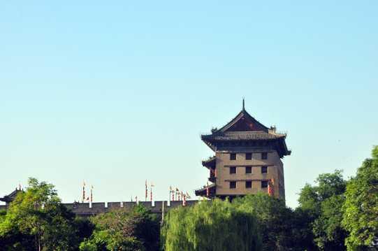 陕西西安古城景致图片
